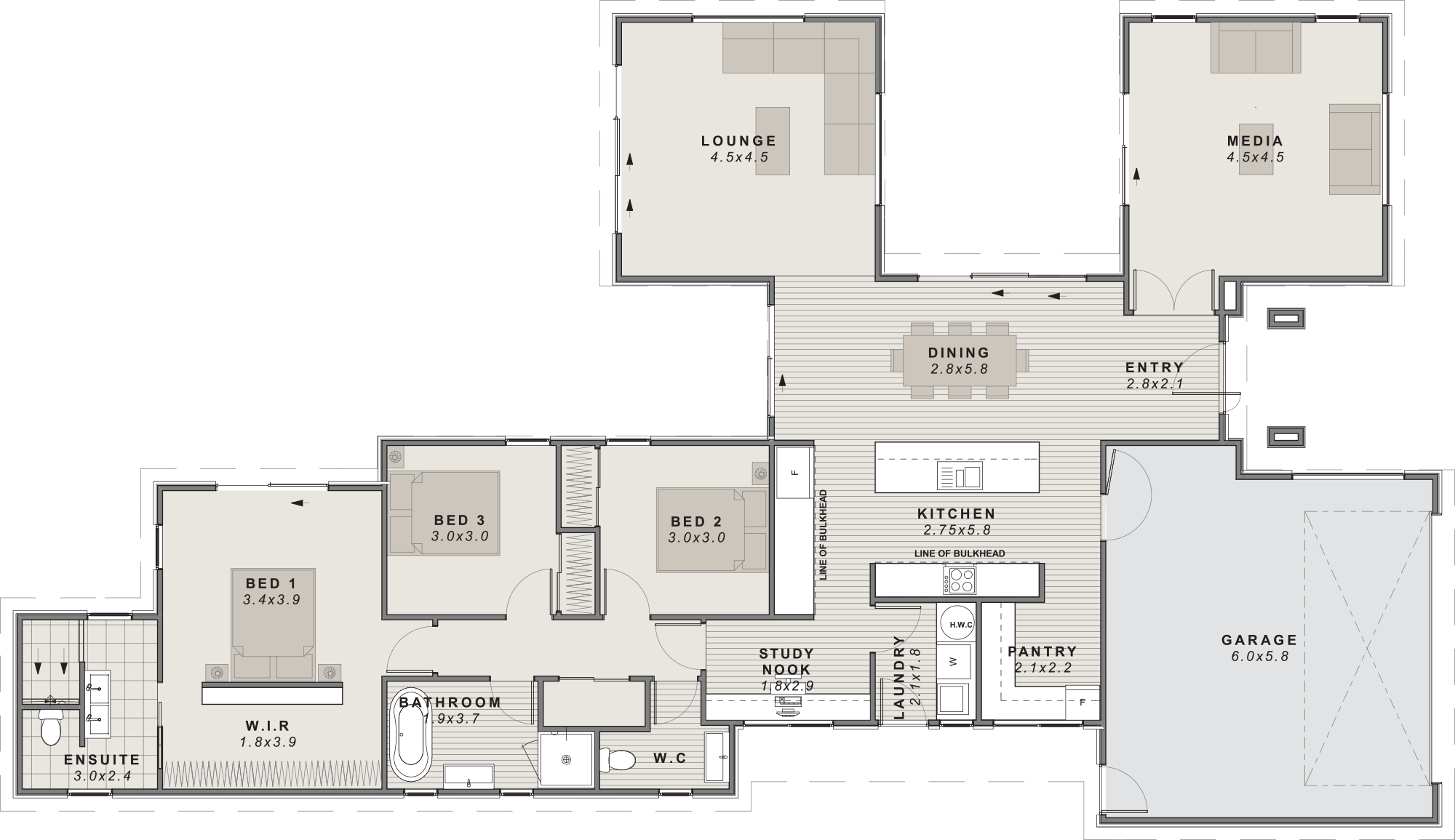 The rakaia Floor plan