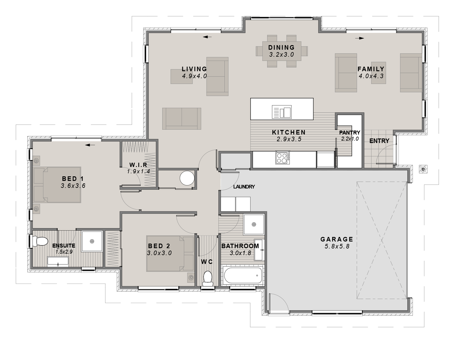 The Tasman Floorplan