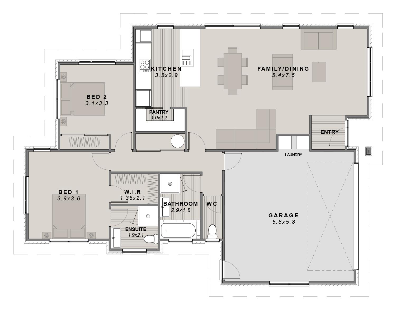 The Kimberly Floorplan