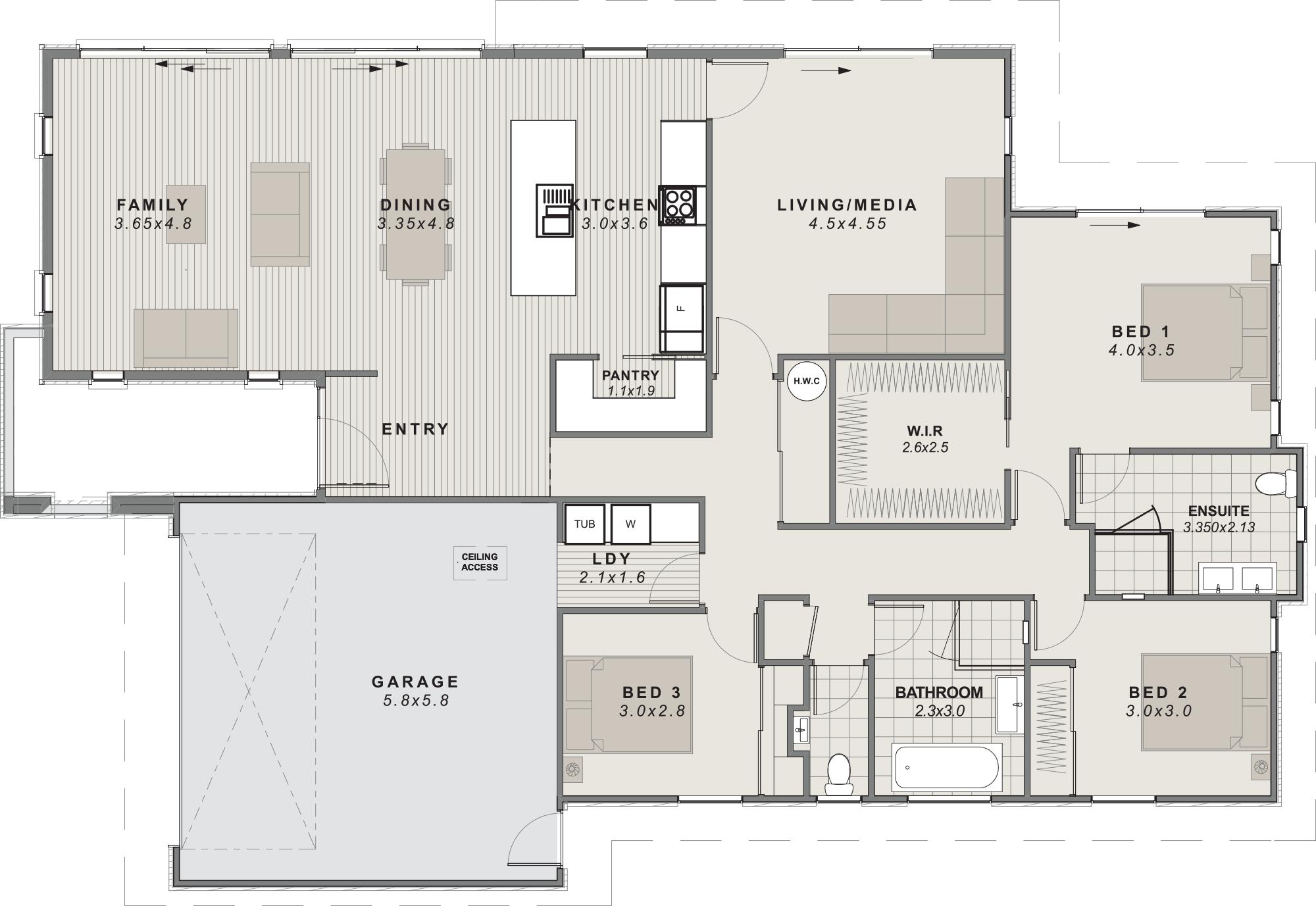 The Merivale showhome Floorplan