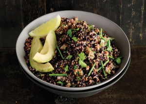 http://foodiesunite.com/2011/11/quinoa-and-black-rice-salad-with-cumin/
