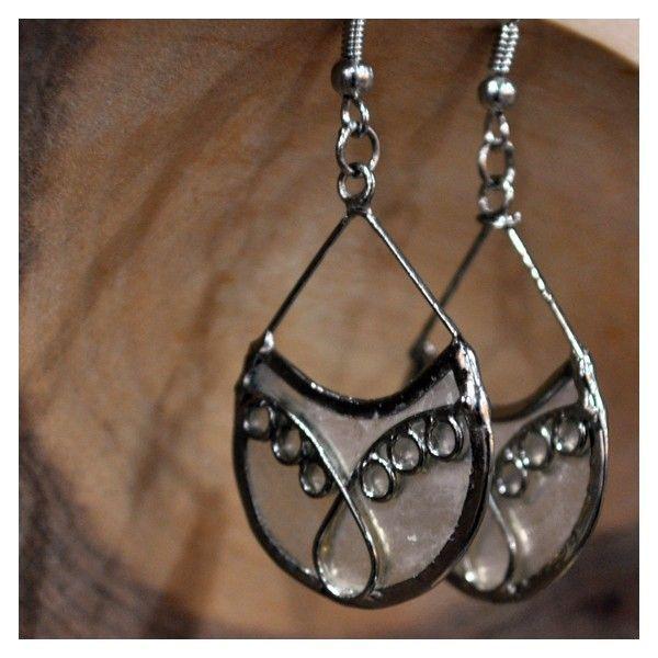 Capiz Filigree Teardrop Earrings