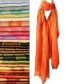 Solid and Striped Acrylic Scarf