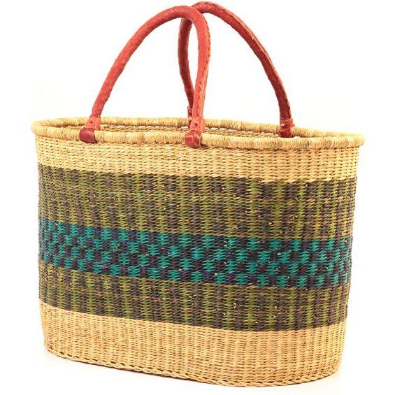 Two Handled Market Basket made in  Ghana  by the  Frafra Weavers