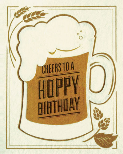 Wish any beer lover a happy birthday with this card from  Sanctuary Spring  in the  Philippines