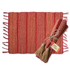 Vetiver root placemats from  Zen Zen  made in  Indonesia , come in to smell the unique root the mats are made from.