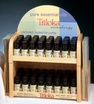 A full selection of pure essential oils sustainably harvested by Triloka.