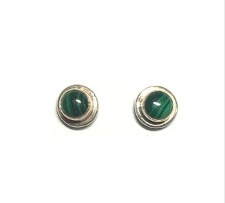 Sterling Silver stud earrings made in  Nepal  by  Ganesh Himal