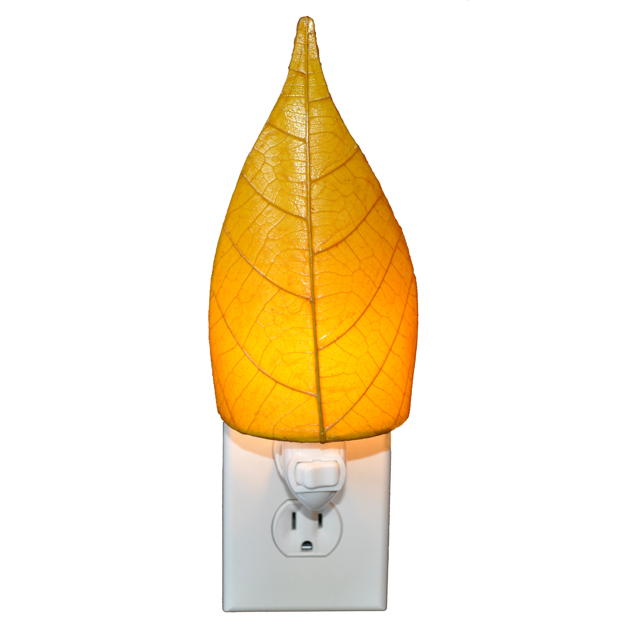 Fossilized Cocoa Leaf Nightlight made in the  Philippines  by Eangee.