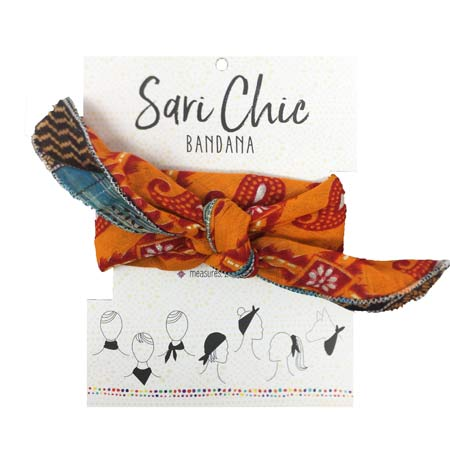 World Finds  bandanna made from recycled saris