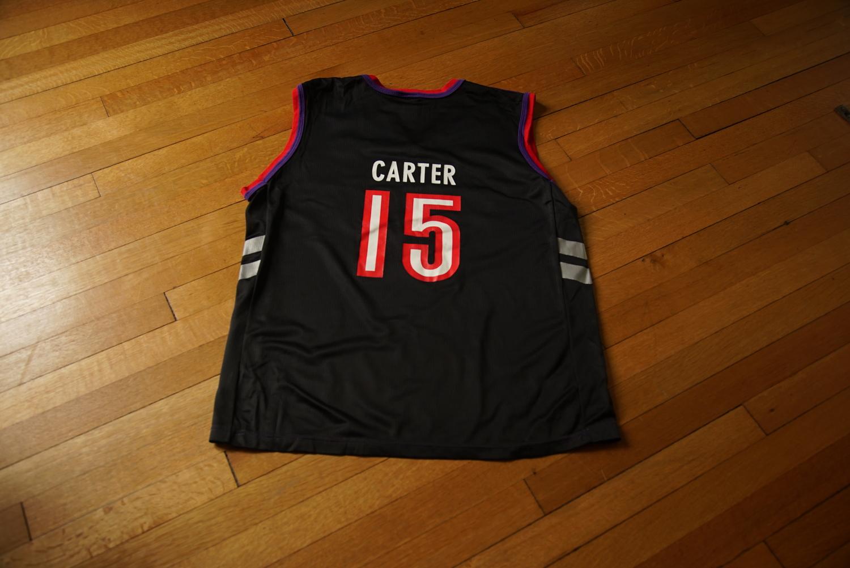 reputable site 36416 2ed2e Vince Carter Champion Toronto Raptors Jersey (M + XL) — bombay knox