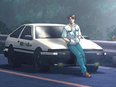 Takumi Fujiwara and his Toyota AE86