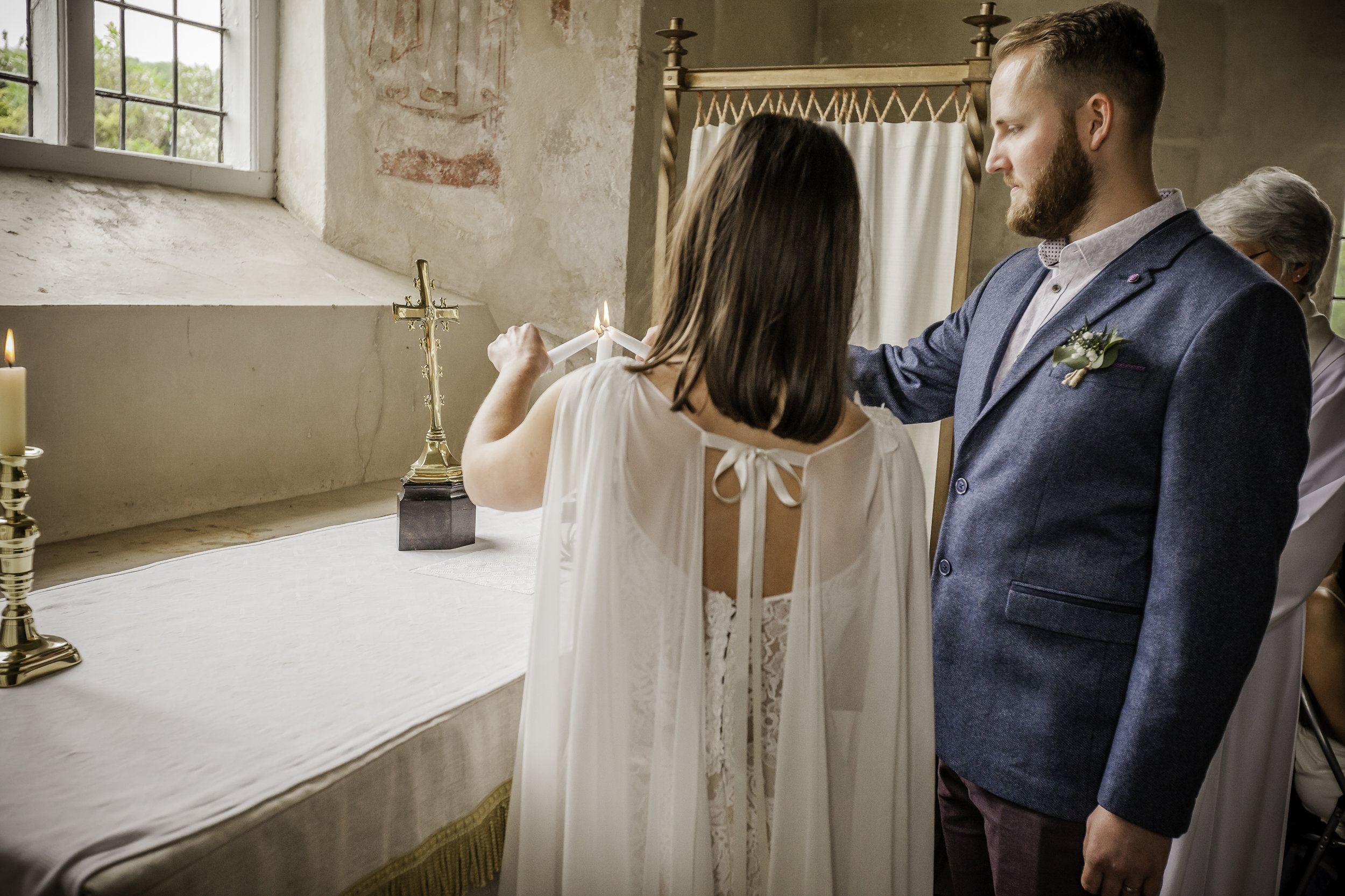 Bespoke silk georgette bridal cape - 2016