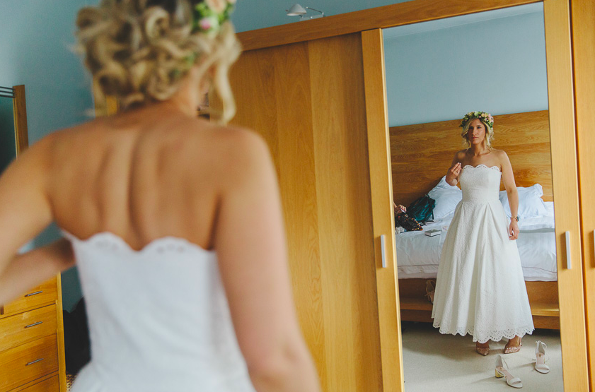 Broderie anglaise fifties inspired full skirted wedding dress - 2016
