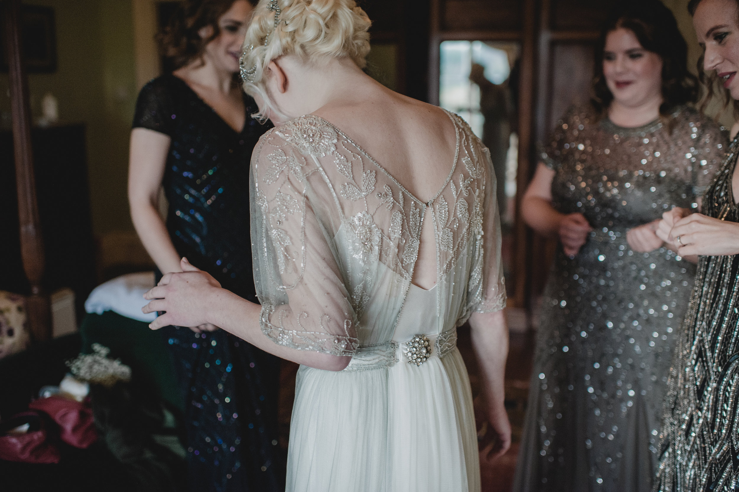 Altered and repaired wedding dress