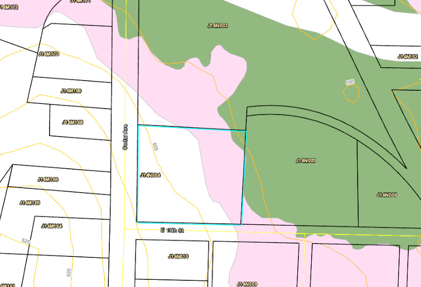 Relatively flat. less than 5% in the 100 year flood plain with a portion (pink) in the 500 year flood plain. I don't think flood insurance is necessary.