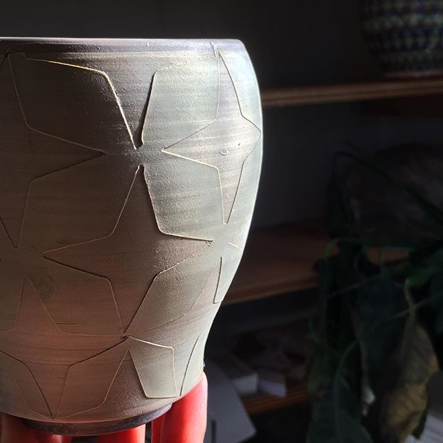 Textural decoration ✨ . See you in a could weeks @dartmouthmakers and @halifaxcrafters 💞 . #halifax #dartmouthmakers #halifaxcrafters #hfxcrafters #oldtowncraftshow #lunenburg #mugshotmonday #novascotia #madeincanada #ceramics #clay #pottery #craft #handmade #contemporarycraft #contemporaryceramics #handmadeceramics  #potsinaction #piabadasswomen #instapottery #handmade
