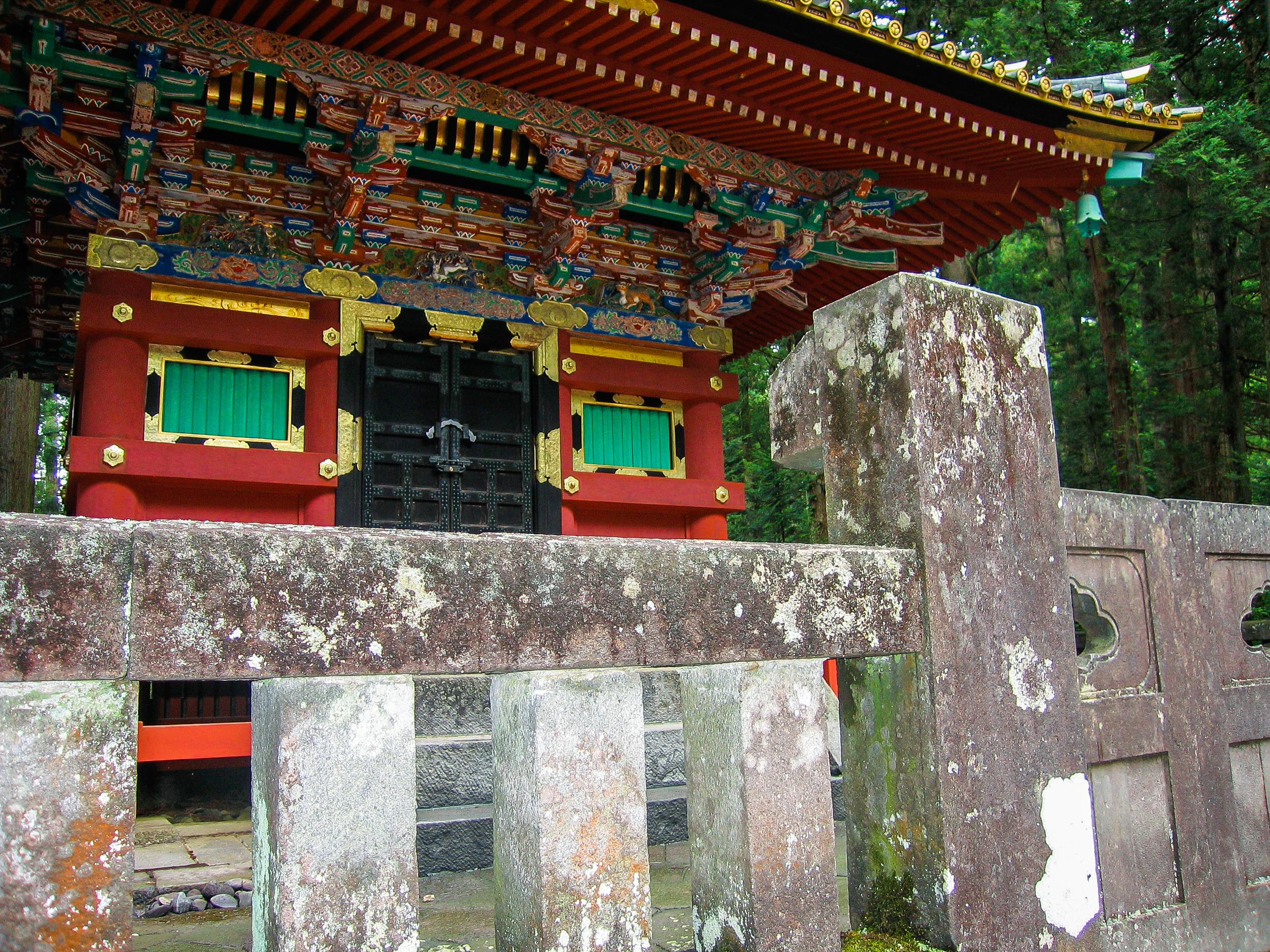 Pagoda details at Nikkō Tōshō-gū Shinto Shrine.