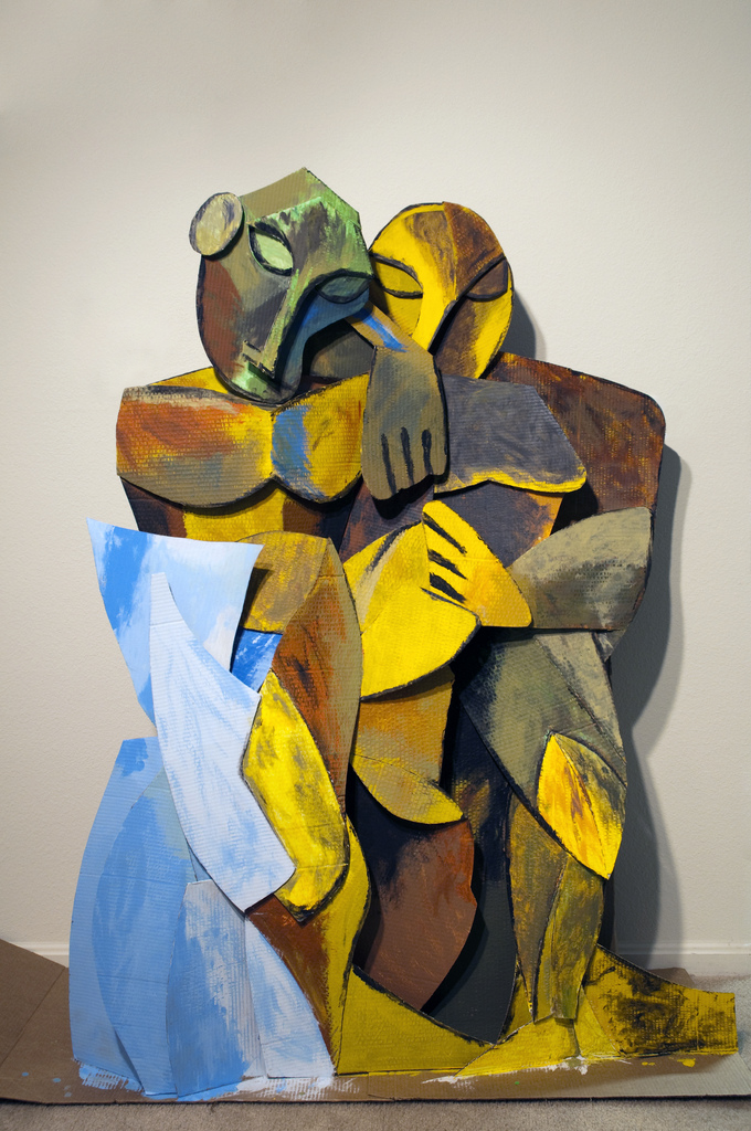 "Life-size three-dimensional interpretation of Pablo Picasso's ""Frienship"" (2009)"