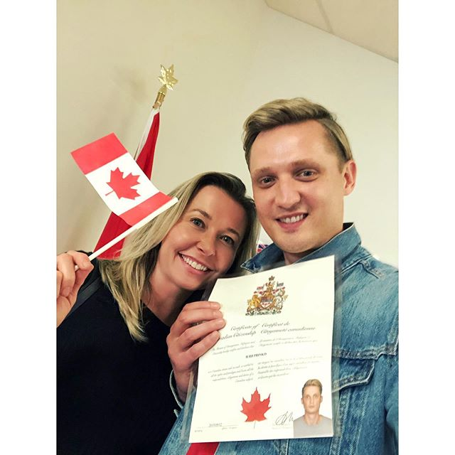 So proud of this guy for officially becoming Canadian today! 🇨🇦♥️ #mycitizenship #ohcanada #canadaproud  #makemeblonde #torontohairstylist #mysola