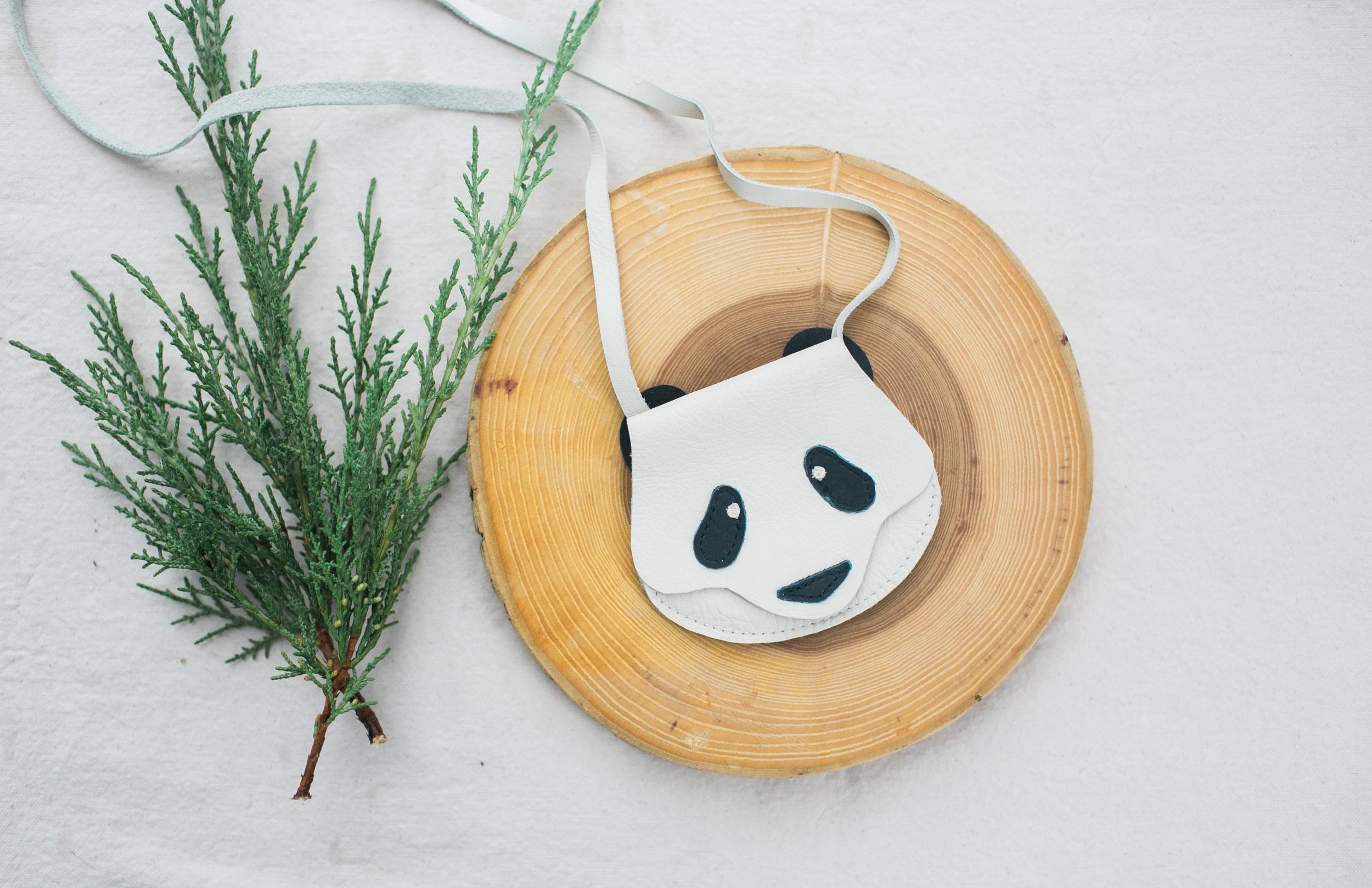 panda animal wallet bag