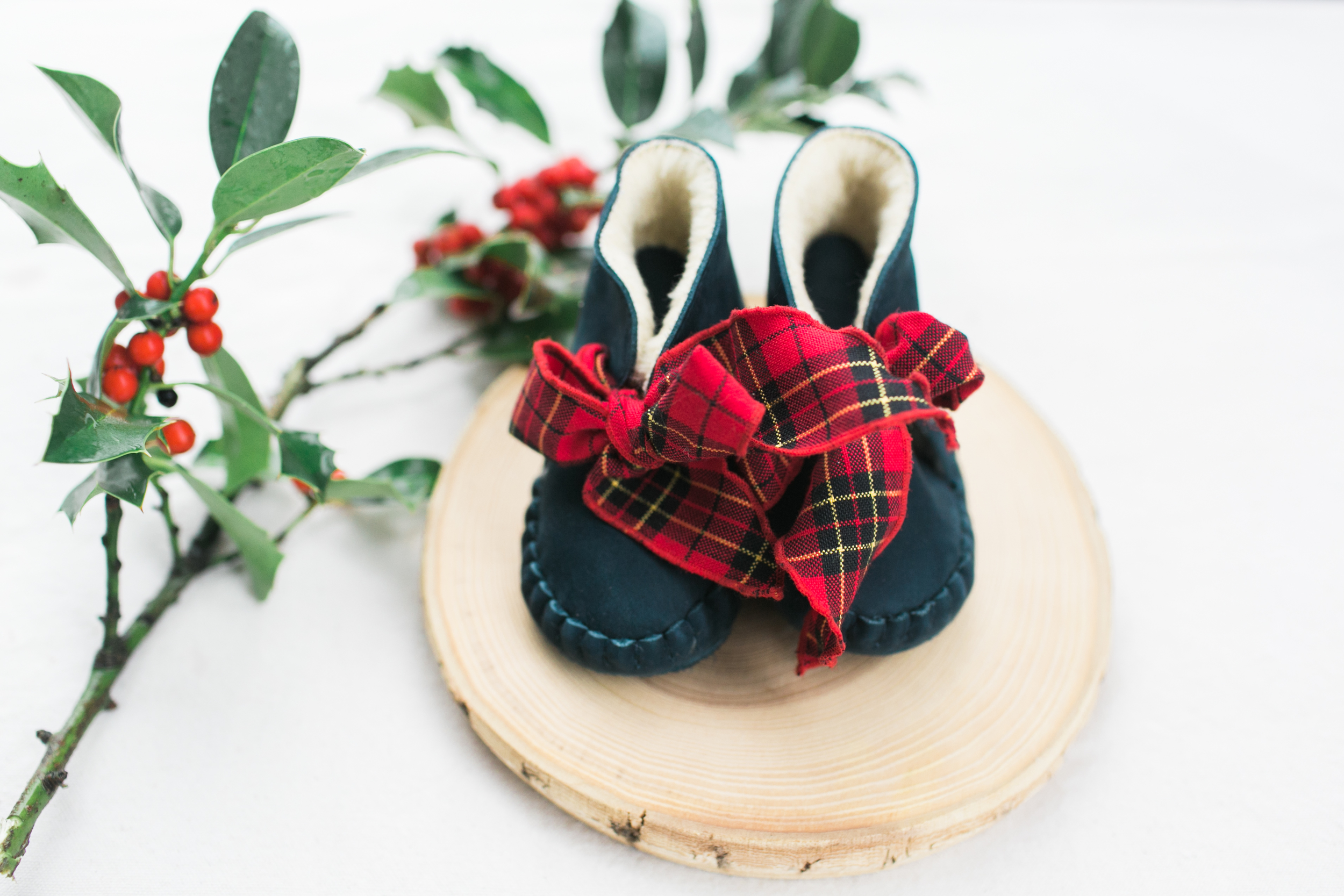 pina lining booties + christmas laces