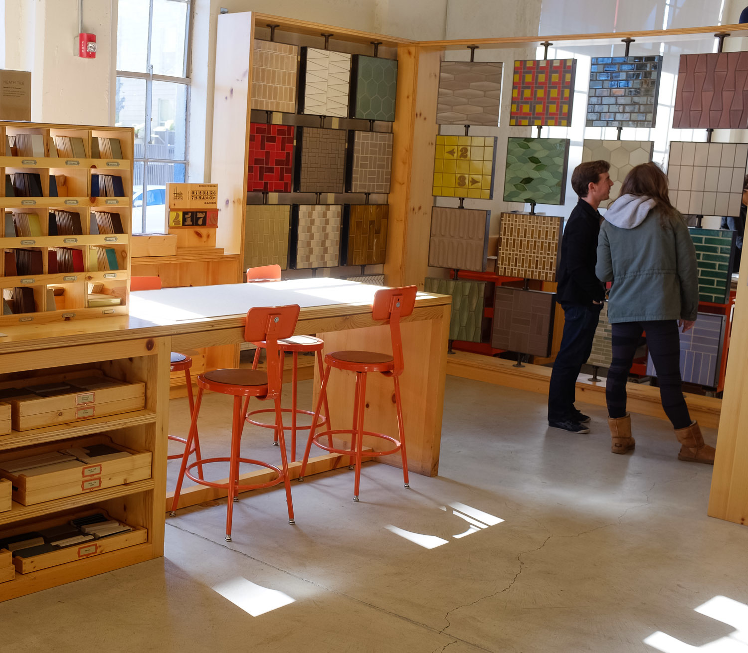 Heath Ceramics display in their store, San Francisco