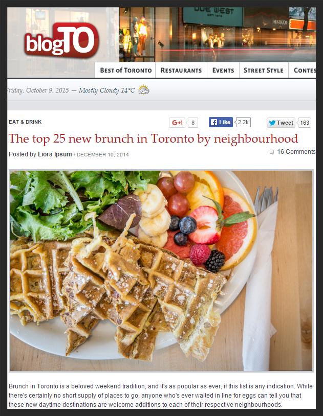 http://www.blogto.com/eat_drink/2014/12/the_top_25_new_brunch_in_toronto_by_neighbourhood/