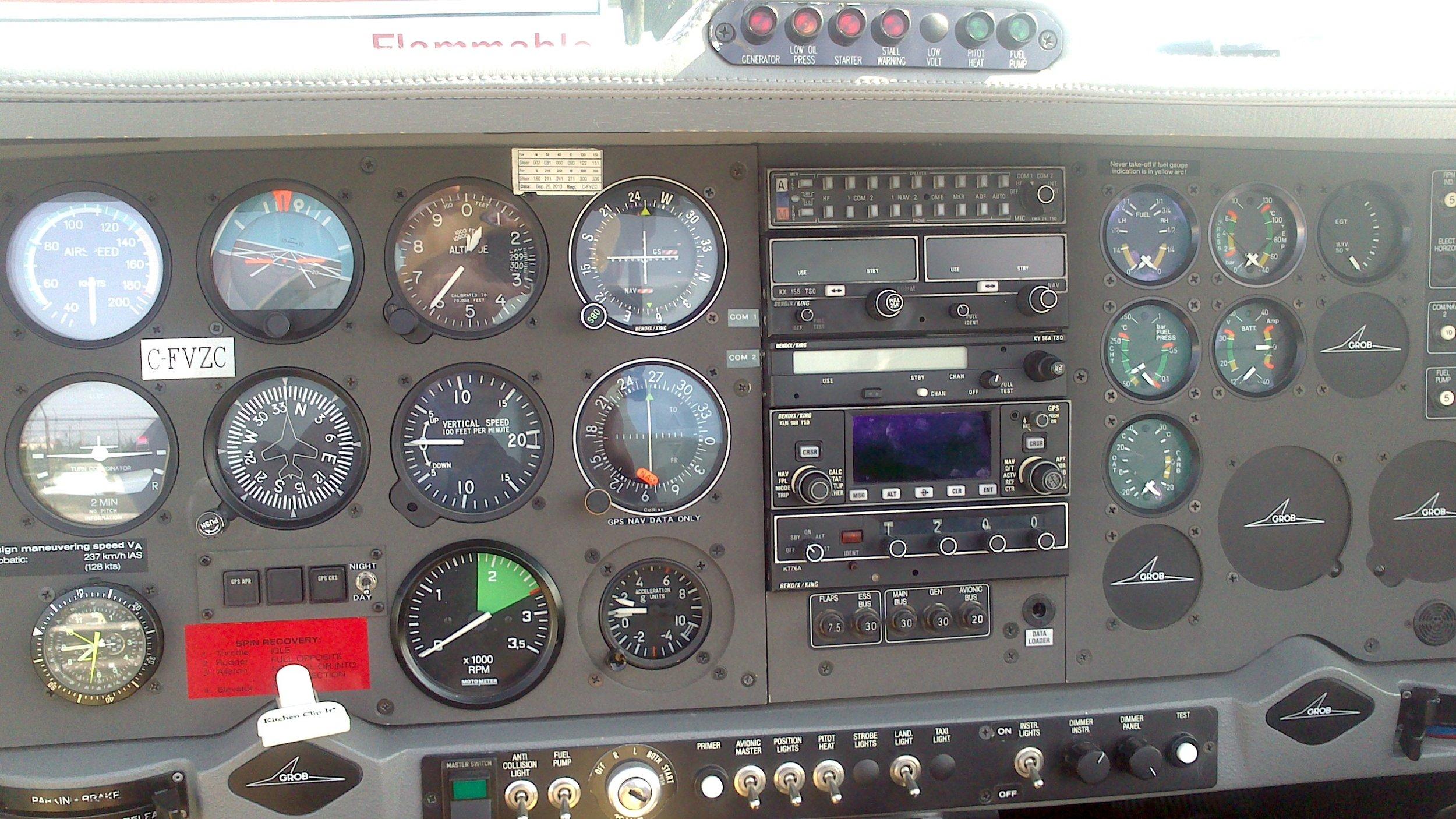 Grob G115C Cockpit