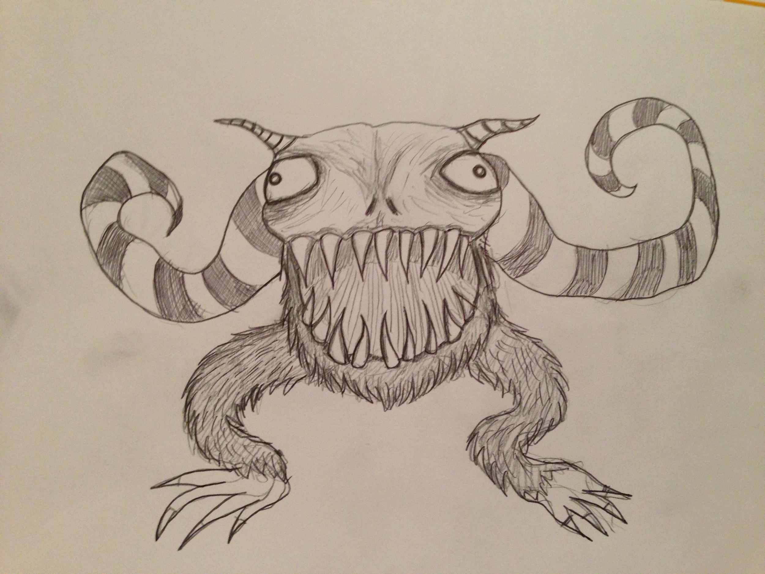 Concept artwork for the alien monster.