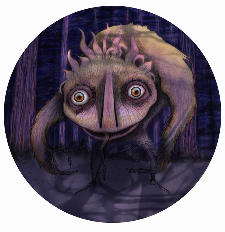 Forest Monster final illustration.
