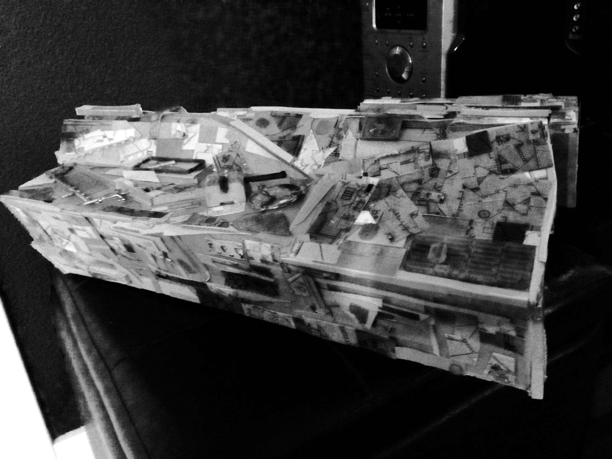 Josh Funk - cardboard spaceship .JPG