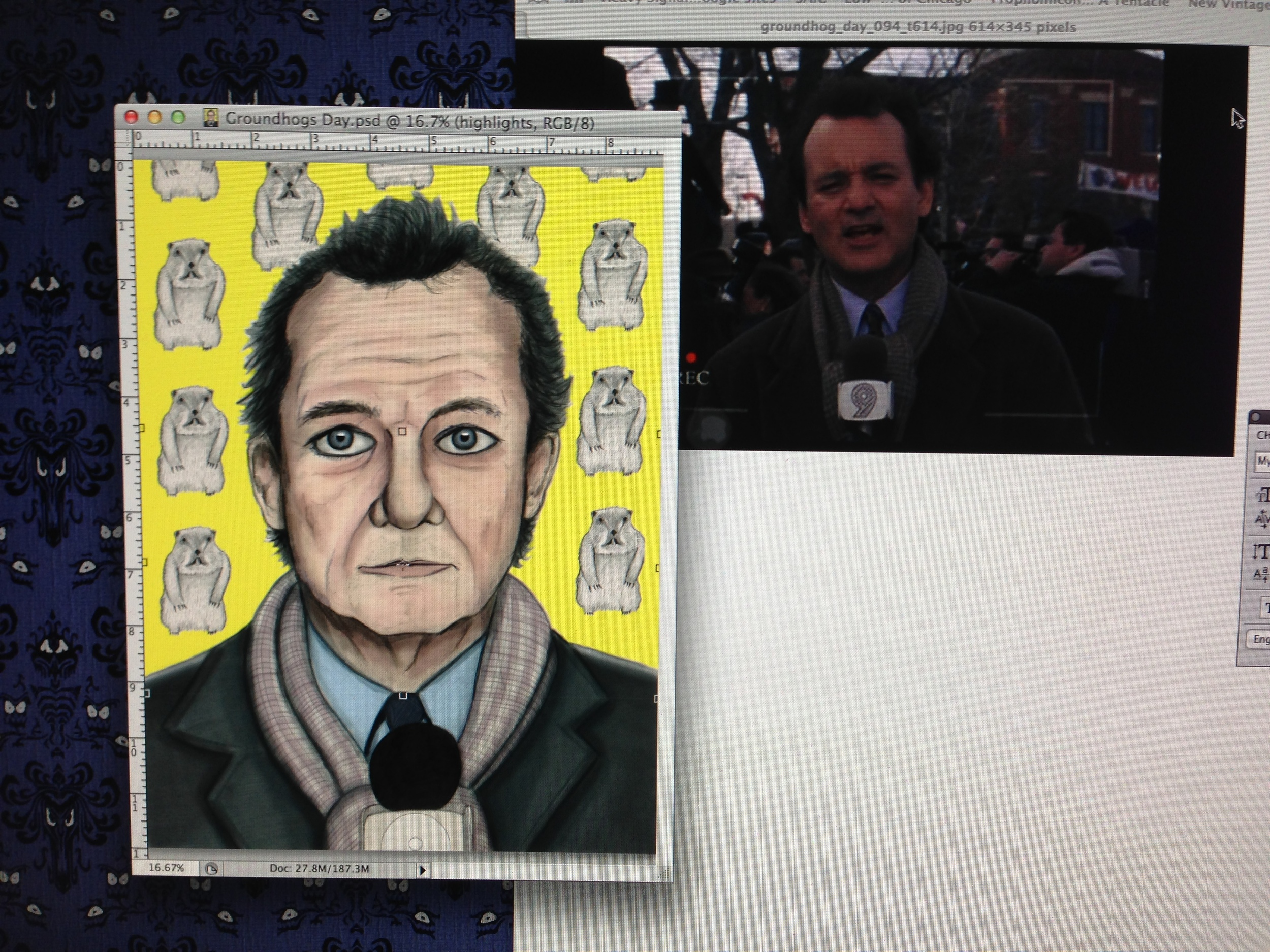 Bill Murray Illustration Josh Funk Process