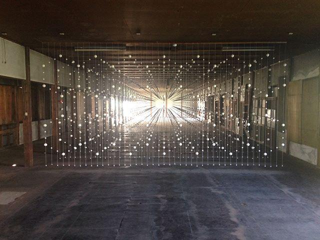Highlights from Echigo-Tsumari Triennale : Balls in space . #art #echigotsumari #arttriennale2018 #arttriennale #triennale #ballsinspace #ballsonthefloor #balls #backlit #tokamachi #niigata #japan with @katietectonic