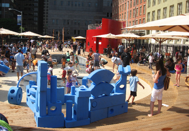 Imagination Playground is located at 2 Fulton St, New York, NY. It's a playground like you have never seen before. Let your imagination run wild.
