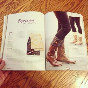 Mansfield Lingerie's Expressive Legwarmers were featured in an article in Altered Couture magazine! Photo via Mansfield Lingerie Instagram.