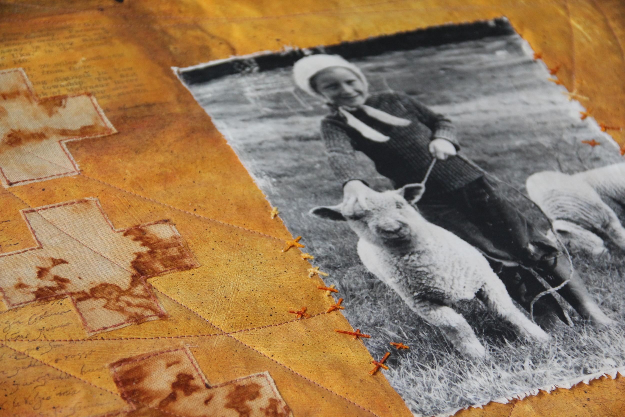 Detail of original artwork: Te oho mauri - Awakening life force