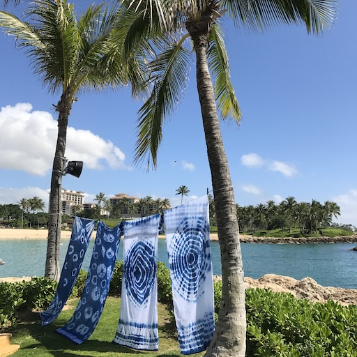 - Fun facts: Indigo dates back to 3300 BC. Today we know it as the dye for blue jeans but in ancient times it was associated with political power and religious ritual. Learn about the handicraft and the history of indigo at our monthly indigo sarong workshop held at the Four Seasons Ko Olina