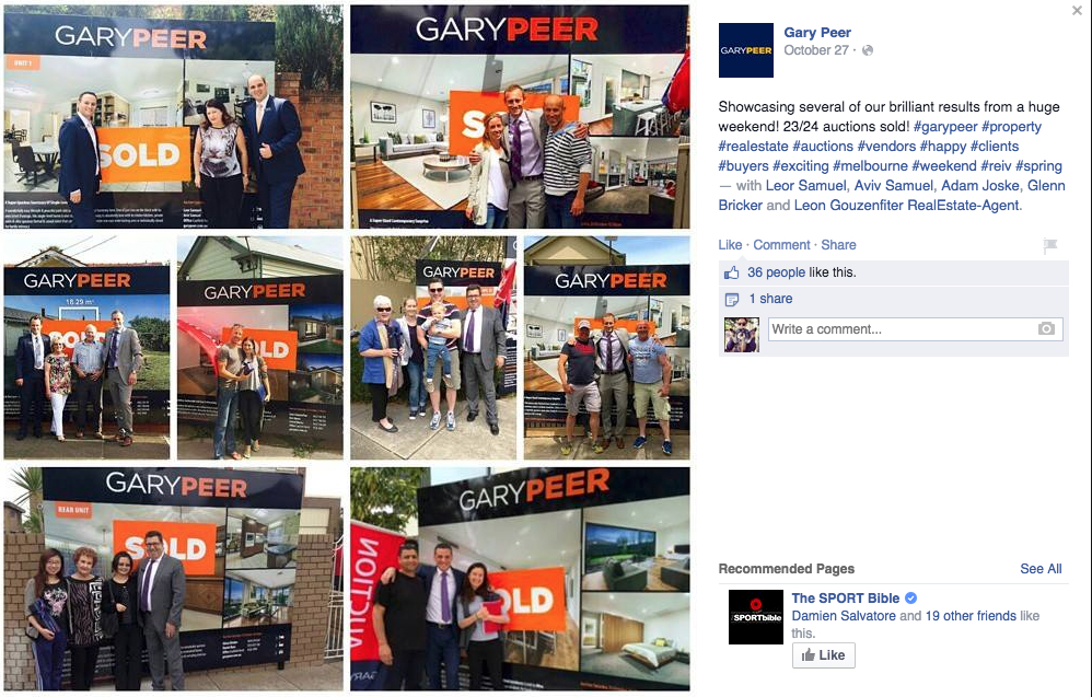 A great way Gary Peer demonstrates they are helping people get in to the market.