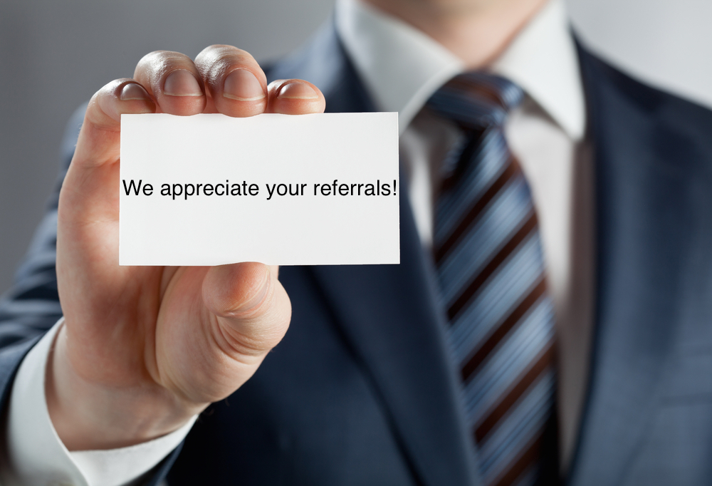 referrals. businesscard