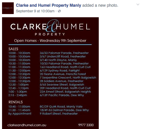 Clarke and Humel Property Manly