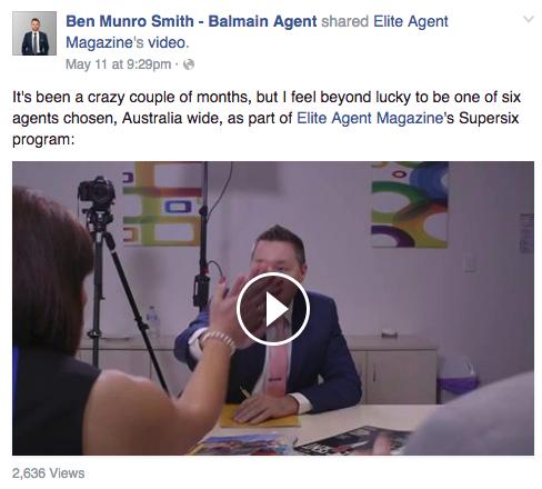 Ben Munro Smith- Balmain Agent's Facebook page