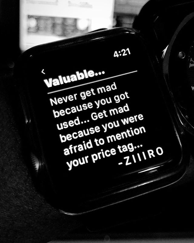 "#⌚️WatchNLearn ➖➖➖ I guess I'm proud to say my circle (for the most part) knows better lol... But this year I've found myself in a handful of conversations in which individuals felt comfortable rolling the subject into their pity party because ""I feel like nobody understands my worth"" or ""So-and-so low-key used(uses) me""... 🤦🏾‍♂️ F'king DUH! 😂‼️ you're being USED because you're USEFUL! THAT WAS THE WHOLE GOAL OF ALL YOUR TIRELESS NIGHTS AND DAYS HACKING AWAY AT YOUR CAPABILITIES! The LITERAL opposite of you being USEFUL is being USELESS! 😂🤦🏾‍♂️ To that end... ""Feeling used"" is just your core trying to tell you ""Hey... Okay cool so BOOM... we're either gonna NOT do  THIS anymore or we need to raise the f'king price so we can sleep at night... Sooo what'r'we doing? Cause this like the 76th time you've done this for free..."" Now... I'm not at all saying ""BeInG uSeD iS a FiGmEnT oF yOuR iMaGiNaTiOn"" 🙄 people DO get used... shit... I'VE been used... but those who talk about it from a place of PAIN have YET to reply to their core and those who can speak on it from a place of RESOLVE would probably rather talk about the fruits of doing so instead... THAT said... Stay sharp & GET USED you USEFUL mutha'f'kas 😂‼️ But ALSO... GET PAID... And remember your TIME and EFFORTS are only as VALUABLE as the VOLUME you are confident in SAYING so... Love you😉 Thank you🙏🏾 Hoping this served✌🏾 ➖➖➖ ⌚️ ▫️T ▫️A ▫️G ▫️S 🔻 #Useful #Classy #StayPositive #TheGoodQuote #LifeQuote #Ambitious #Perseverance #Discipline #Confident #Creator #LevelUp #Introvert #PeaceAndLove #PowerOfPositivity #VisionBoard #SuccessMindset #KnowledgeOfSelf #BetterDays #WordsOfEncouragement #LifeLesson #SelfLoveIsTheBestLove #SelfEmpowerment #GrowthMindset #FollowYourDreams #Solopreneur #BlackExcellence #InspireDaily #WatchNLearn"