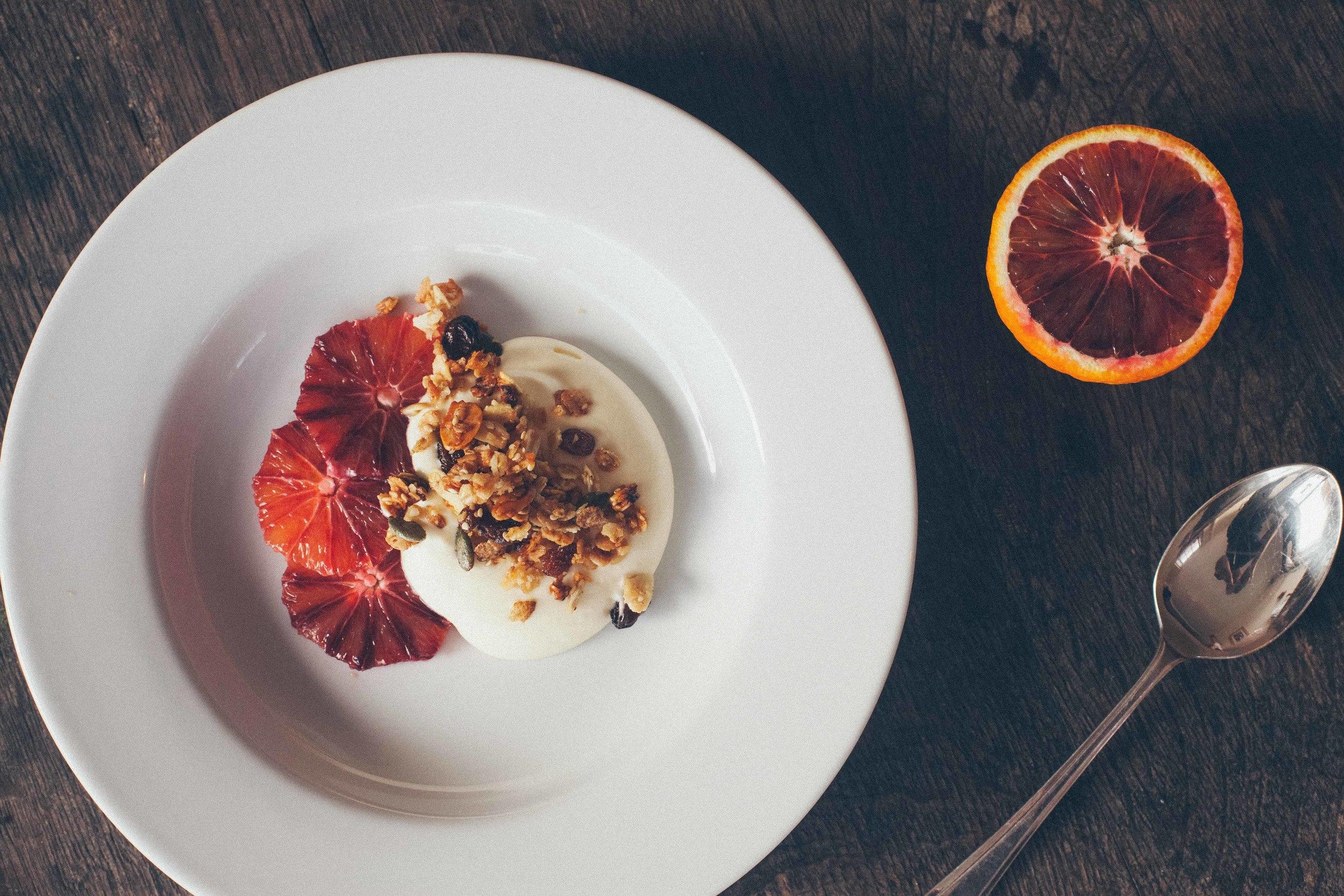 Granola with Blood Orange, Yoghurt Mousse.jpg