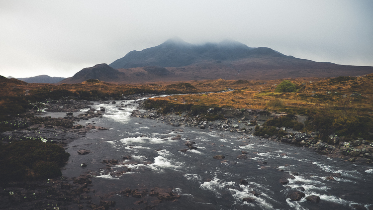 Sligachan on the Isle of Skye;one of the days where the weather wasn't terrible. X-E2/18mm