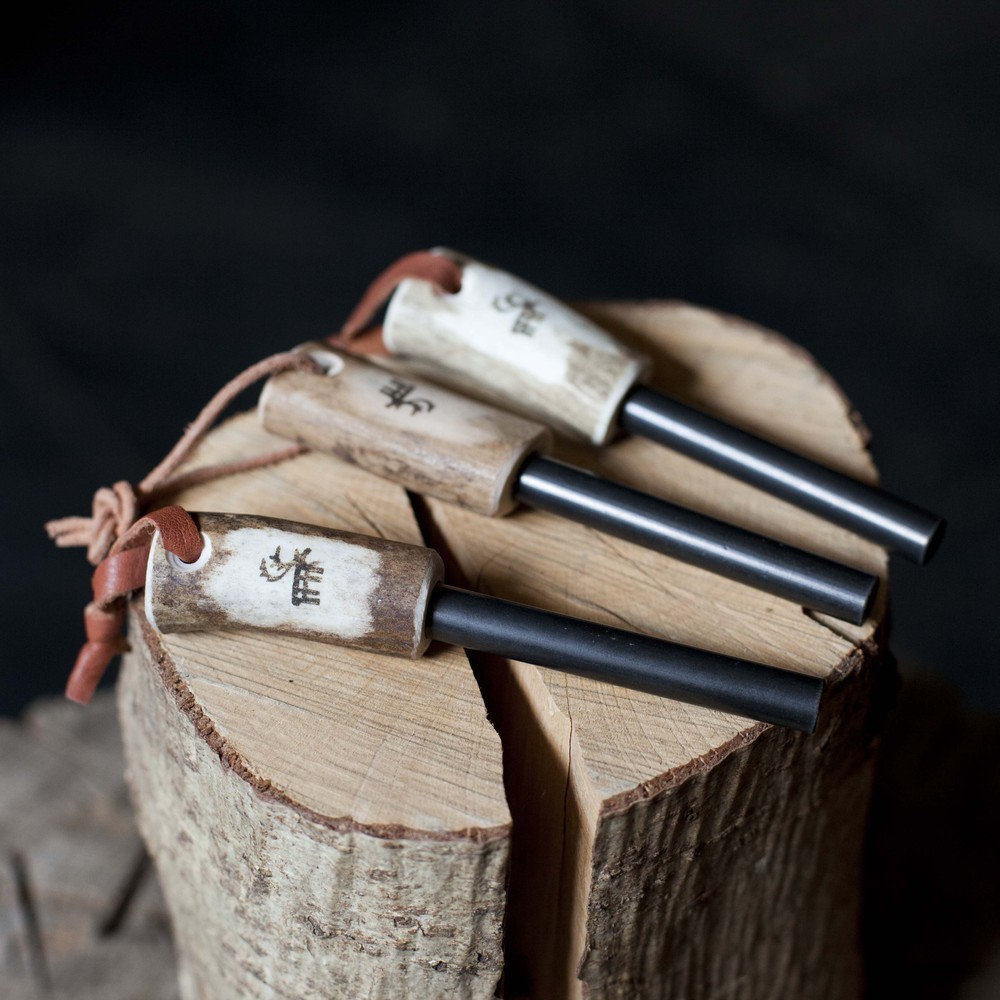 Firestriker Steel with antler handle, £16.95   These Swedish firesteels will not let you down even when other lighters and matches fail. Reindeer antler handle with a reindeer leather lanyard.
