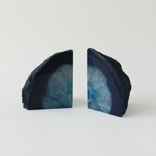 Blue Agate Book Ends, £34.95 Eastern Biological