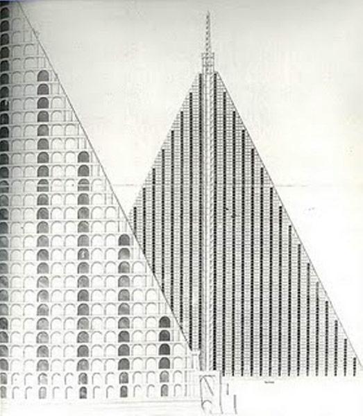 A blueprint of Thomas Willson's Metropolitan Sepulchre
