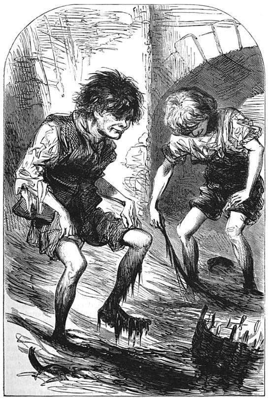 Image: Mudlarks of Victorian London ( The Headington Magazine , 1871)