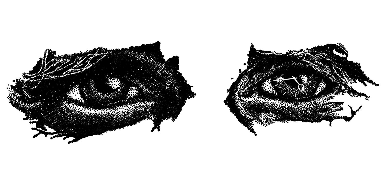 Pointillistic eyes